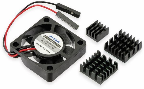 Acrylgehäuse transparent mit Lüfter und Kühlkörper für Raspberry Pi - Produktbild 3