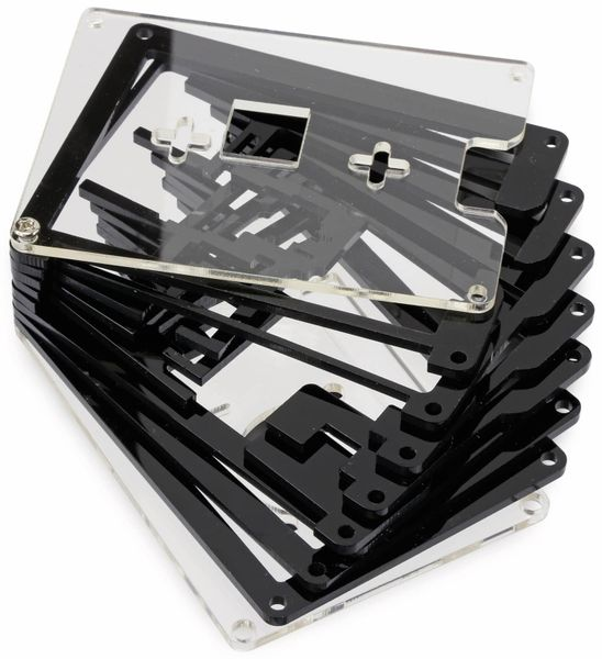 Acrylgehäuse transparent mit Lüfter und Kühlkörper für Raspberry Pi - Produktbild 4