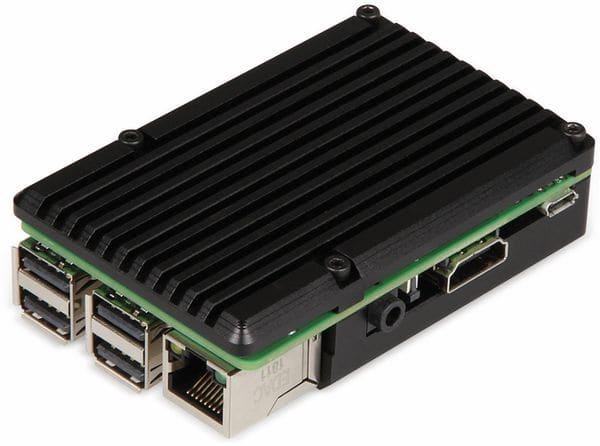 "JOY-IT Armor Gehäuse ""Block"" für Raspberry Pi 3, Alu, Lüfter, schwarz - Produktbild 2"