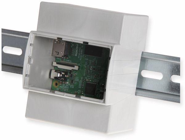 JOY-IT Hutschienen Gehäuse für Raspberry Pi Modell B+, 2B, 3 - Produktbild 2