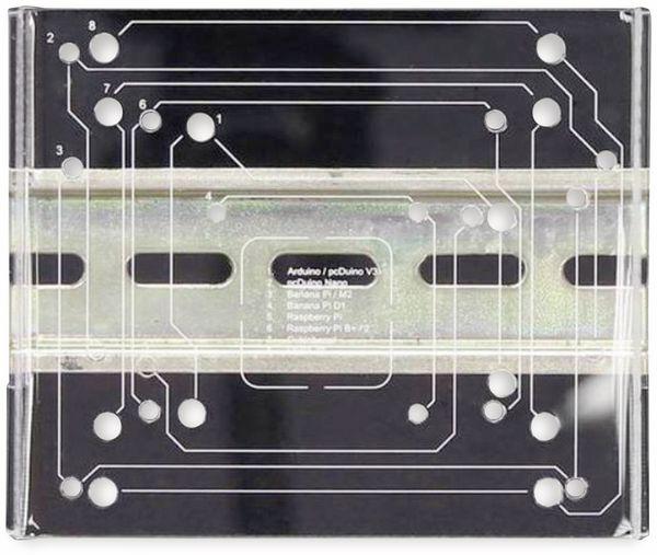 JOY-IT Din Rail Halterung für Einplatinencomputer, VESA 75 - Produktbild 2