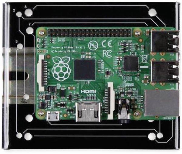 JOY-IT Din Rail Halterung für Einplatinencomputer, VESA 75 - Produktbild 3