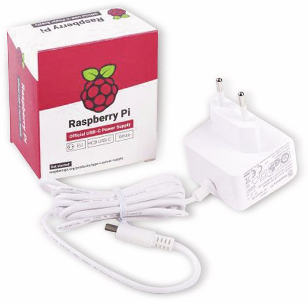 Raspberry PI 4 Model B Netzteil, Weiß