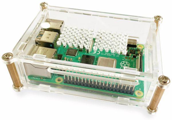 JOY-IT Acryl-Gehäuse transparent für Raspberry Pi 4 B