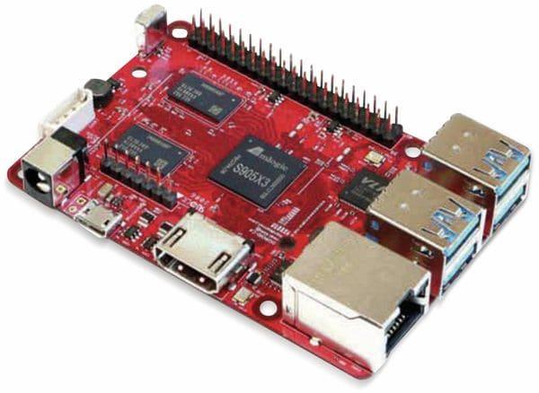 ODROID-C4 Einplatinen-Computer, 2 GHz QuadCore, 4 GB RAM, 4x USB - Produktbild 3