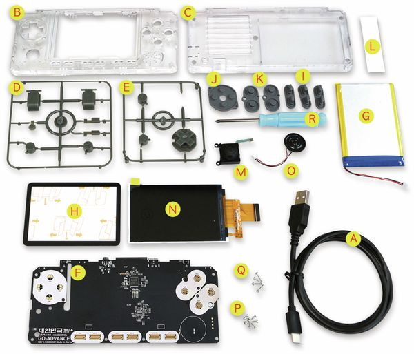 ODROID-GO Advance Black Edition, transparent, Spielekonsole Kit - Produktbild 2