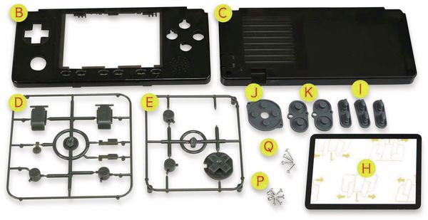 Gehäuse- und Tasten-Kit, schwarz