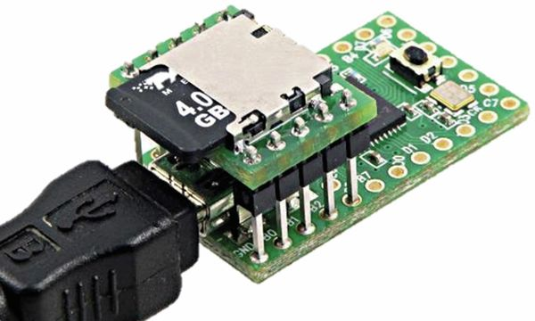 PJRC, Micro SD Card Adapter Teensy 2.0 - Produktbild 2