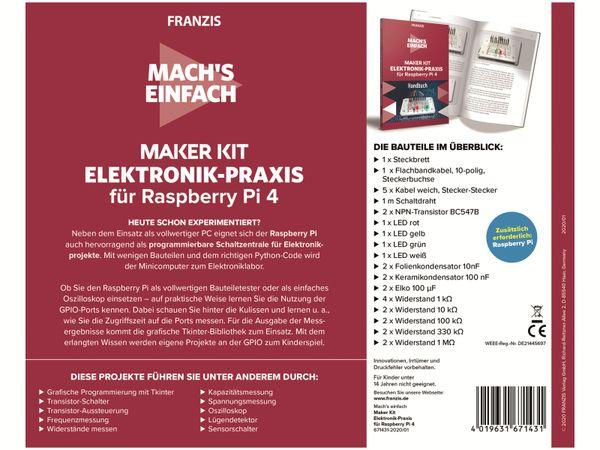 Maker Kit, FRANZIS, 67143, für Raspberry Pi 4 - Produktbild 3