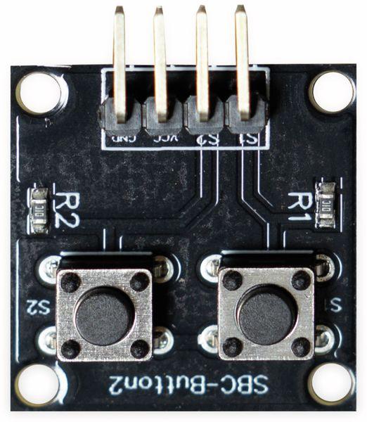 Joy-IT, Platinenmodul für Raspberry Pi/Arduino mit 2 Druckknöpfen , SBC-Button2 - Produktbild 2