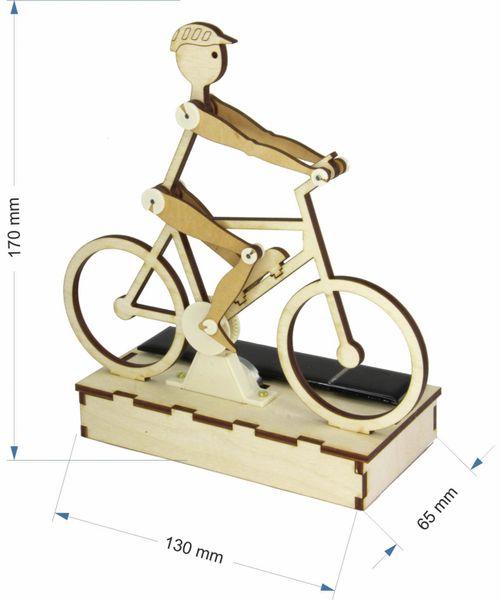 Bausatz, Solar Radler / E-Biker, Holzbausatz zum Selberbauen - Produktbild 4