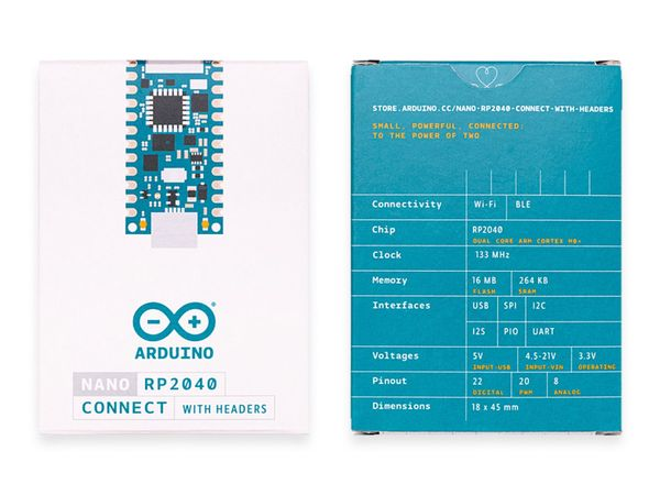 Arduino® Board NANO RP2040 CONNECT with headers - Produktbild 6