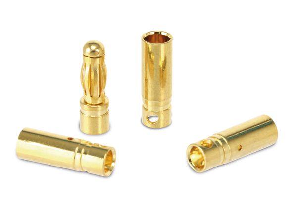 Goldkontakt-Steckerset, 4 mm, 5 Paare