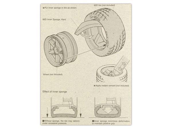 Reifeneinlage TAMIYA, hart - Produktbild 2