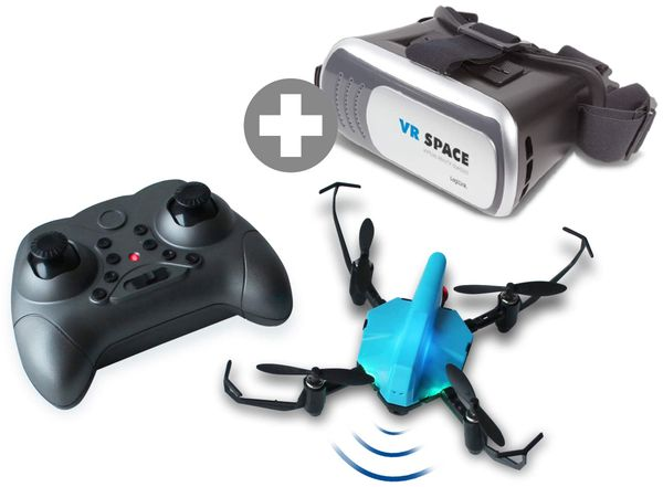 Bundle: Quadrocopter Space Racer + Virtual Reality Brille LOGILINK AA0088