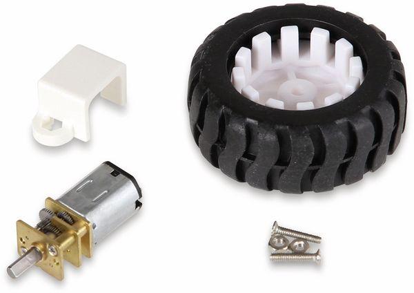 JOY-IT Mini Metallgetriebemotor mit Rad und Halter - Produktbild 2
