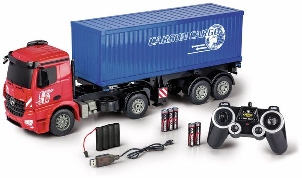 CARSON 1:20 MB Arocs mit Container, 2.4GHz, 100% RTR