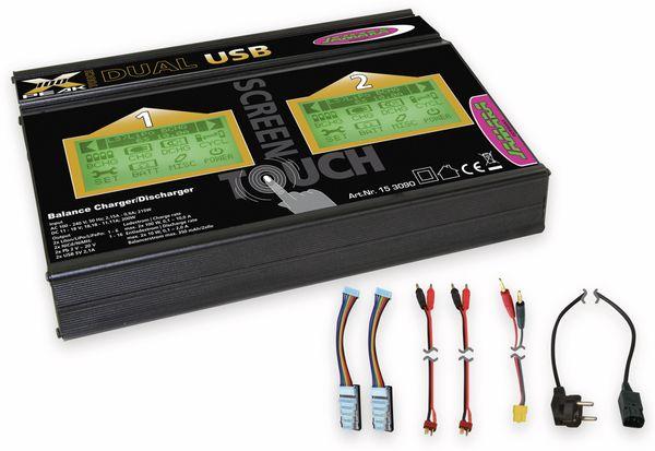 JAMARA Ladegerät X-Peak 100 Touch Dual USB - Produktbild 2