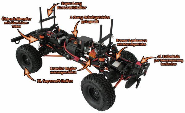 4S Scale-Crawler DF MODELS, 1:10 RTR, 4WD, 313 mm Edition - Van - Produktbild 6