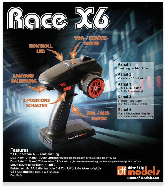 RACE X6 – 5-Kanal Fernsteuerung, df-Models No. 2220 - Produktbild 3