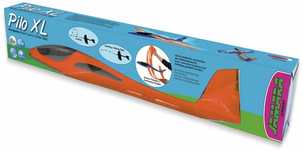 Jamara 460485 Pilo XL Schaumwurfgleiter EPPTragfläche blau Rumpf orange - Produktbild 2