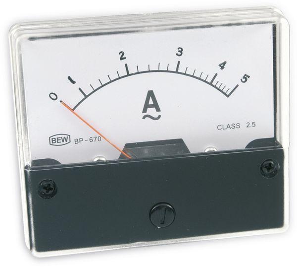 Dreheisen-Einbauinstrument, 0...5 A~