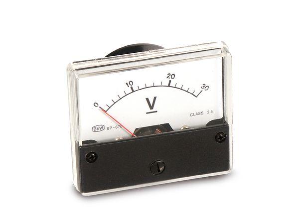 Drehspul-Einbauinstrument, 0...30 V- - Produktbild 1