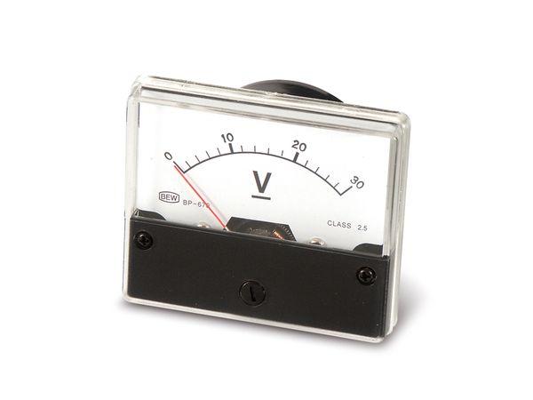 Drehspul-Einbauinstrument, 0...30 V- - Produktbild 2