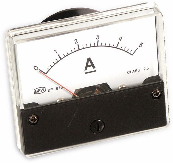 Drehspul-Einbauinstrument, 0...5 A- - Produktbild 1