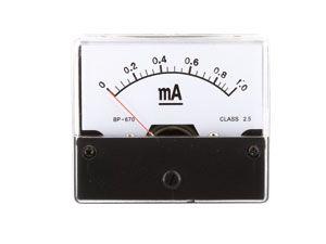Drehspul-Einbauinstrument, 0...1 mA-
