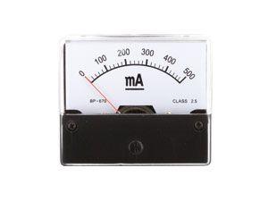 Drehspul-Einbauinstrument, 0...500 mA-