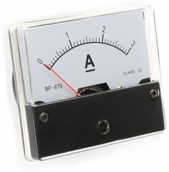 Drehspul-Einbauinstrument, 0...3 A-
