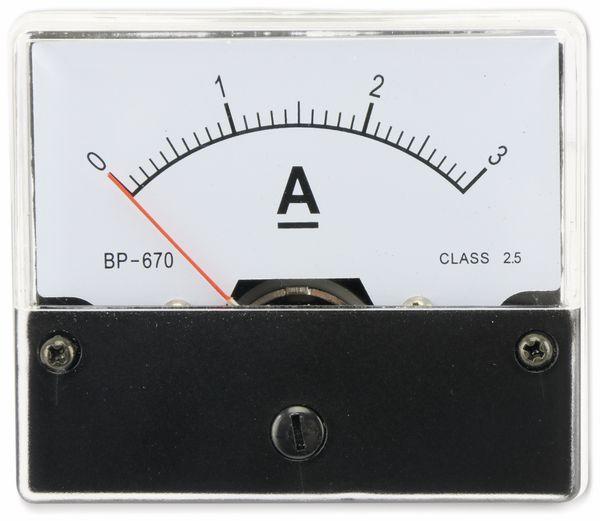 Drehspul-Einbauinstrument, 0...3 A- - Produktbild 3