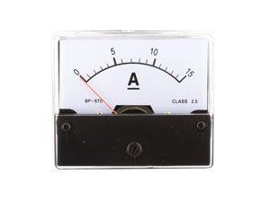 Drehspul-Einbauinstrument, 0...15 A-