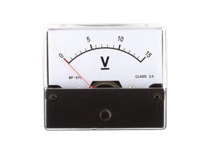 Drehspul-Einbauinstrument, 0...15 V-