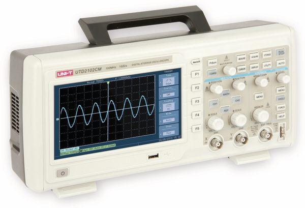 LCD Speicher-Oszilloskop UNI-T UTD2102CM, 100 MHz, 1 GS/s