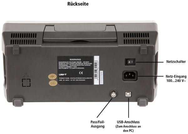 LCD Speicher-Oszilloskop UNI-T UTD2102CM, 100 MHz, 1 GS/s - Produktbild 2