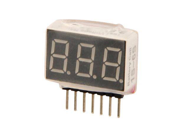 Voltmeter für LiPo/LiIon/LiFe-Akkus AVM-1/6S - Produktbild 1