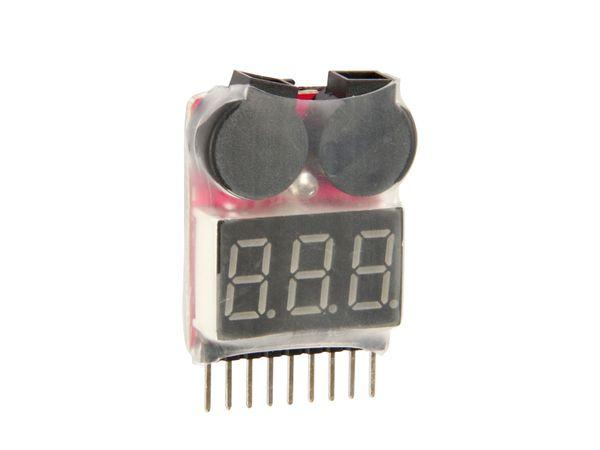 Voltmeter mit Alarm für LiPo/LiIon/LiFe-Akkus AVM-1/8SA - Produktbild 1