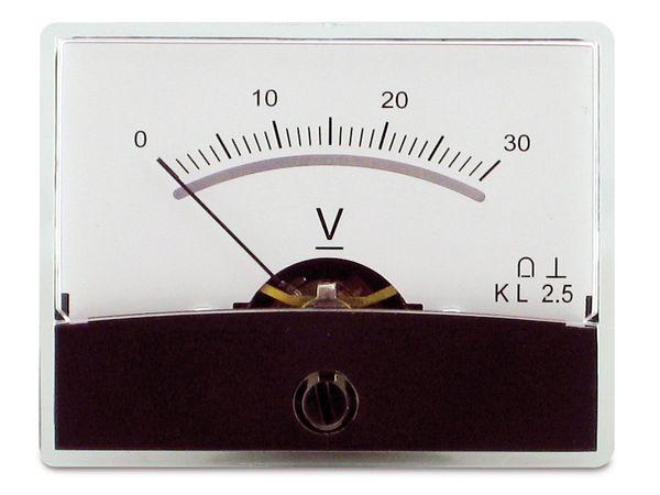Einbau-Messinstrument mit Spiegelskala, 0...30 V-