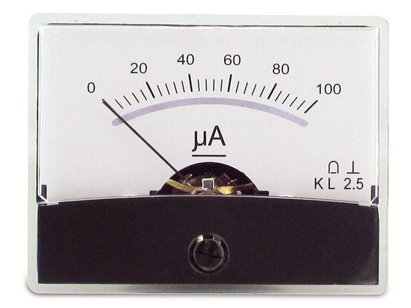 Einbau-Messinstrument mit Spiegelskala, 0...100 µA-