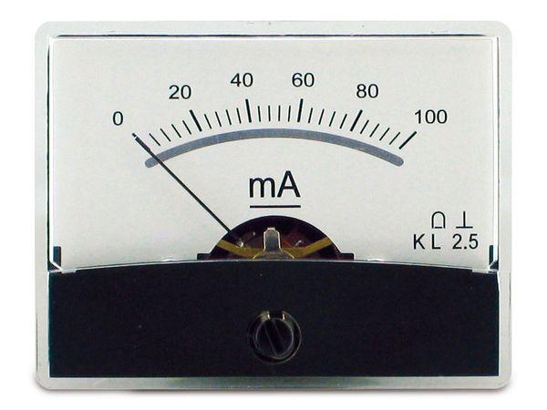 Einbau-Messinstrument mit Spiegelskala, 0...100 mA-