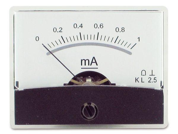 Einbau-Messinstrument mit Spiegelskala, 0...1 mA-