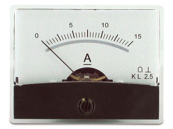 Einbau-Messinstrument mit Spiegelskala, 0...15 A-