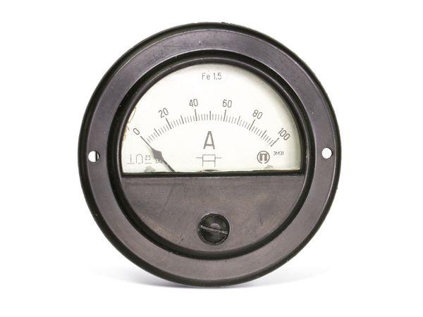 Drehspul-Einbauinstrument, 0...100 A- - Produktbild 3