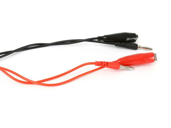 Messleitungen mit Abgreifklemmen, rot/schwarz, 0,75 mm², 1 m