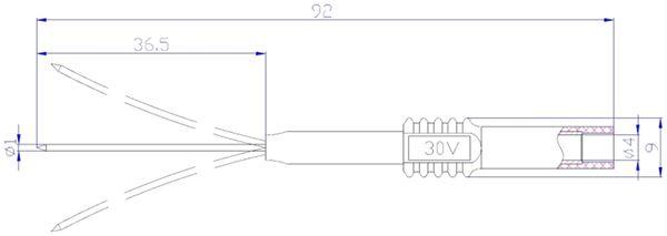 Prüfspitze mit 4 mm Sicherheitsbuchse, flexibel, rot - Produktbild 2