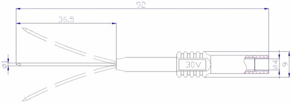 Prüfspitze mit 4 mm Sicherheitsbuchse, flexibel, grau - Produktbild 2