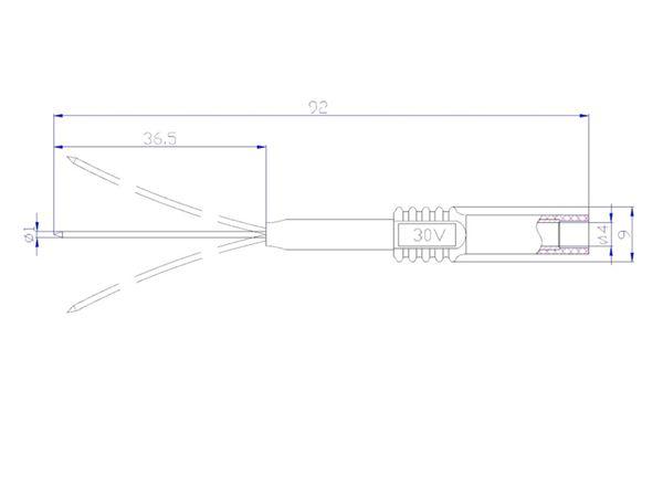 Prüfspitze mit 4 mm Sicherheitsbuchse, flexibel, grau - Produktbild 3