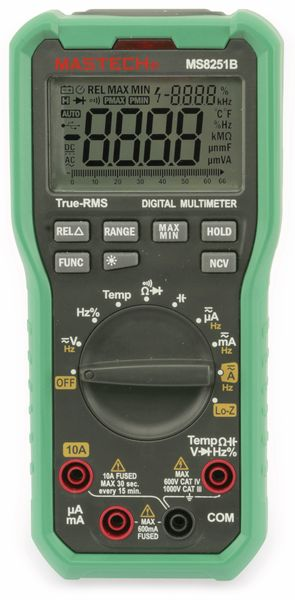True RMS Digital-Multimeter MASTECH MS8251B, NCV, LoZ - Produktbild 3